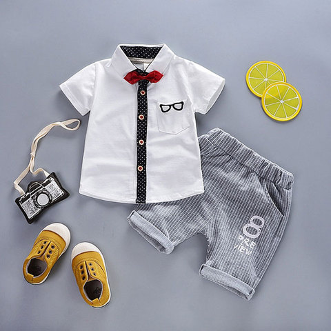 cb107b87e929c ... Hot Gentleman Baby Boy Clothes Shirt Jacket + Pants Casual Sportswear  suit newborn Baby boys Birthday ...