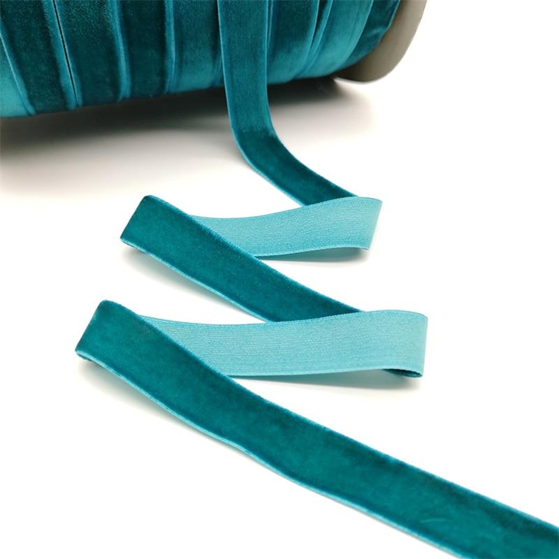 5 ярдов 6-25 мм бархатная лента для украшения свадебной вечеринки ручная работа лента для упаковки подарков бантик для волос DIY Рождественская лента - Цвет: Navy Blue