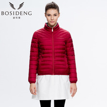 BOSIDENG Winter Thin Ultra Light Women's Short Down Coat Stand Collar Thin Jacket Warm B1401030X