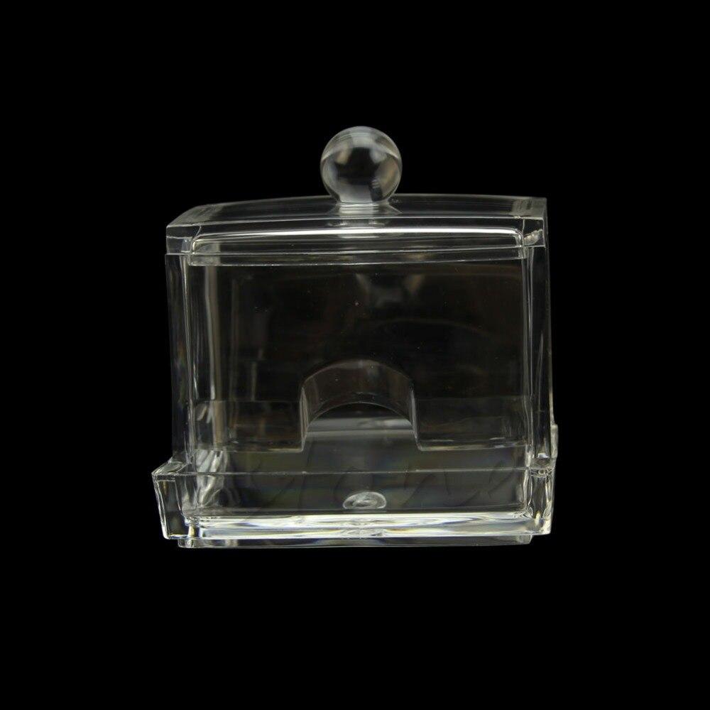 HF прозрачный акриловый Q держатель Ватные палочки Придерживайтесь Box Косметические Макияж хранения Новый