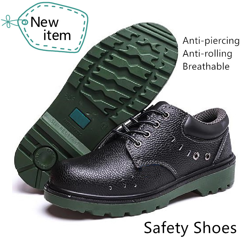 Safety Shoes for Men Steel Toecap Bottom Plate Anti-crashing Piercing TPU Sole Anti-slip Cowhide Spark Resistance Weld KitchenSafety Shoes for Men Steel Toecap Bottom Plate Anti-crashing Piercing TPU Sole Anti-slip Cowhide Spark Resistance Weld Kitchen