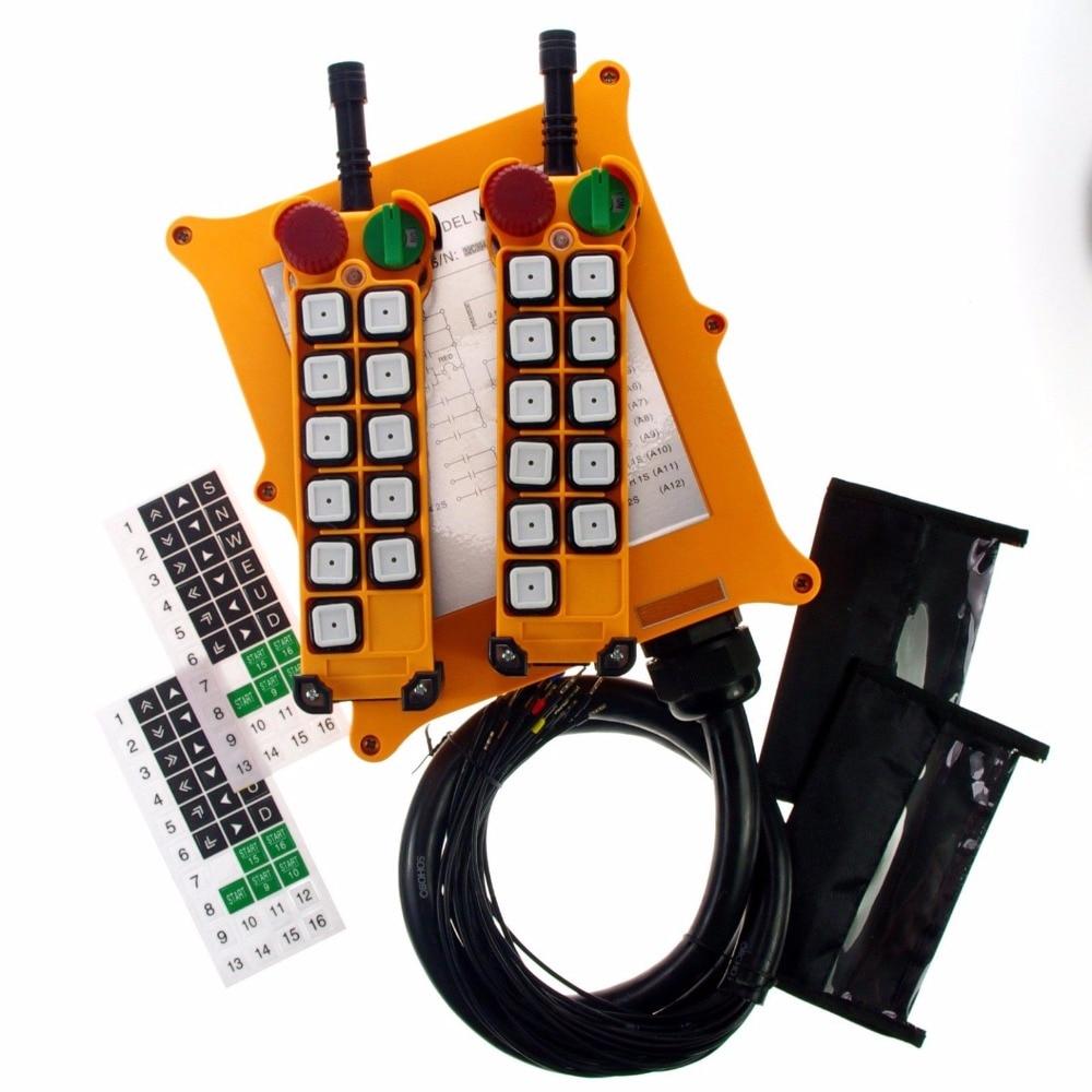 1PCS 10Channel 4 Motions 2Speed Button Hoist Crane Truck Remote Control System E-Stop he motions