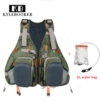 Fly Fishing Vest Fishing Backpack Outdoor Sports Fishing Jacket Backpack Fishing Gear Bag With 2L Hydration