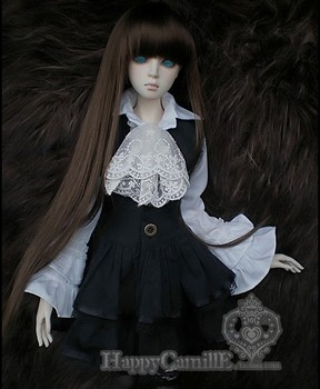 BJD / SD doll clothes / baby clothes British Aristocratic Style Black and White Lace Skirt Suits  for 1/4 1/3 Bjd Doll
