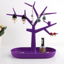 Jewelry Organizer Tree Earring Display Show Rack Necklace Ring Stand Holder