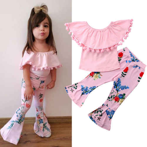65439f3f505 2018 Brand New Toddler Infant Child Kid Baby Girls Clothes Outfits T-shirt  Tops +