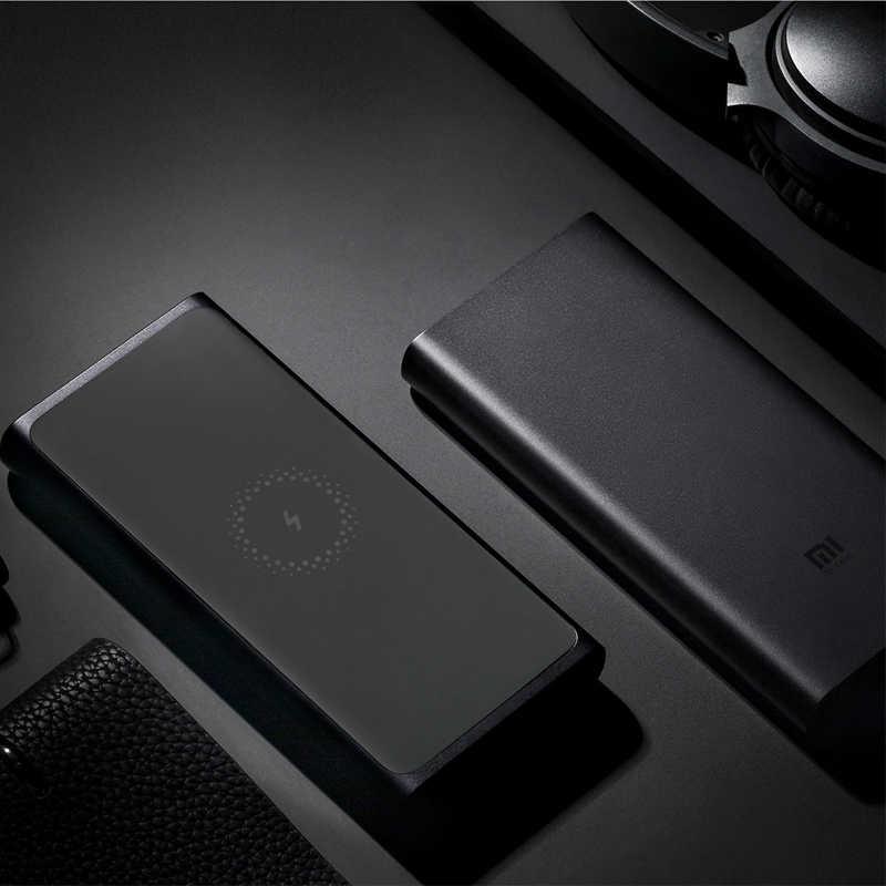 Batterie d'alimentation sans fil Xiaomi 10000 mAh Qi chargeur sans fil rapide USB Type C Mi Powerbank batterie d'alimentation de charge Portable pour téléphone