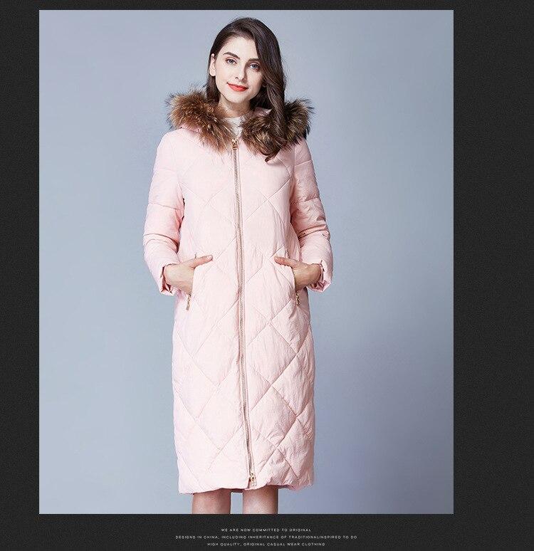 Free Shipping Fashion Women Winter Coat Parka With Rabbit Fur Winter Jacket Women Hooded Warm Coat