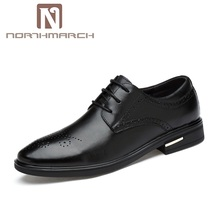 NORTHMARCH Men Dress Shoes Luxury Fashion Oxford For Lace-Up Mens Wedding Round Toe Leather Mocasines