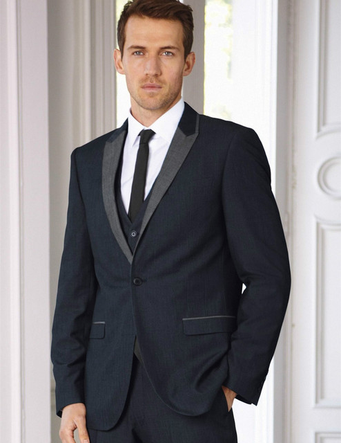 Aliexpress.com : Buy free shipping custom made dark gray tuxedos ...
