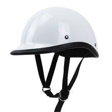 Tt & Co Style половина лица мотоциклетный шлем Легкий вес крышки стиль стекловолокно оболочки DD кольцо с пряжкой в стиле ретро Винтаж шлем