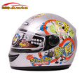 Winter Warm Silver Cartoon SpongeBob Full Face Bike Motorcycle Helmet for Child Kids Children Birthday Gifts