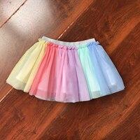 Baby-ballettröckchen-rock Flauschigen Kinder Ballett Kinder Pettiskirt Baby Mädchen Röcke Prinzessin Tulle Dance Regenbogen Röcke für Mädchen