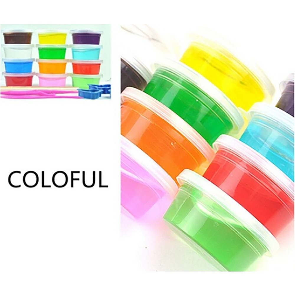 Newest Clay Slime DIY Non-toxic Mud Play Transparent Magic Plasticine Kid crystal Toys Ideal For Arts Crafts Sent at random