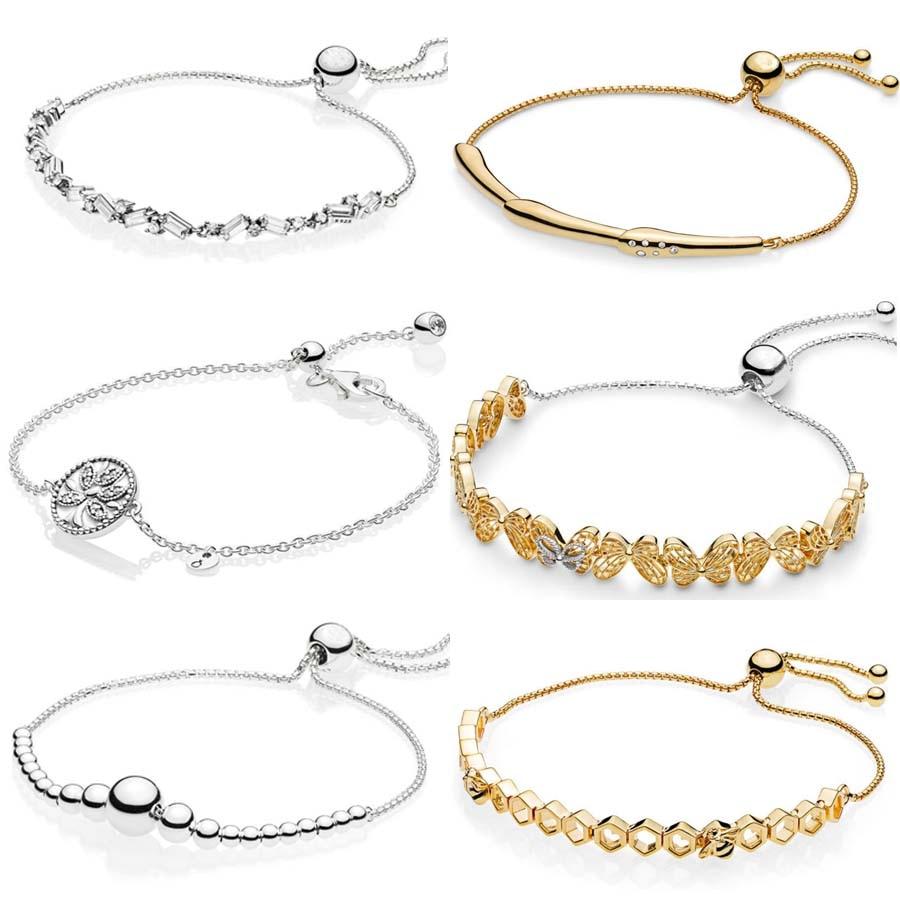d4b39f5bea916 US $10.85 32% OFF|Shine Openwork Butterflies Flower Stem Tree Of Life  Sliding Bracelet Bangle Fit 925 Sterling Silver Bead Charm Pandora  Jewelry-in ...