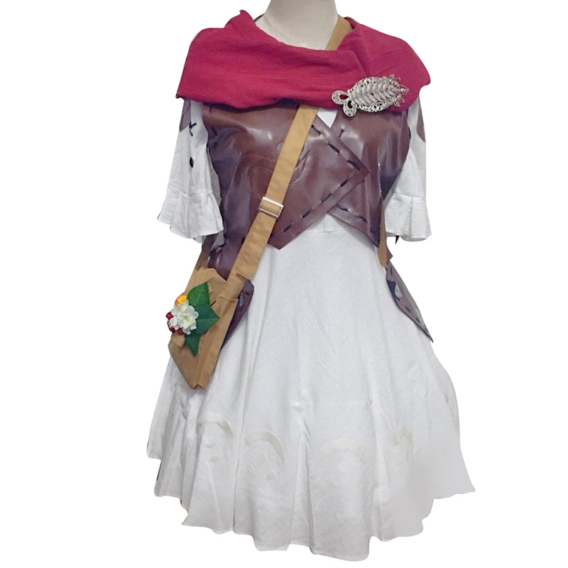 Final Fantasy Cosplay Lalafell Cosplay Costume Adult Women Full Sets Dress Halloween Party Costume