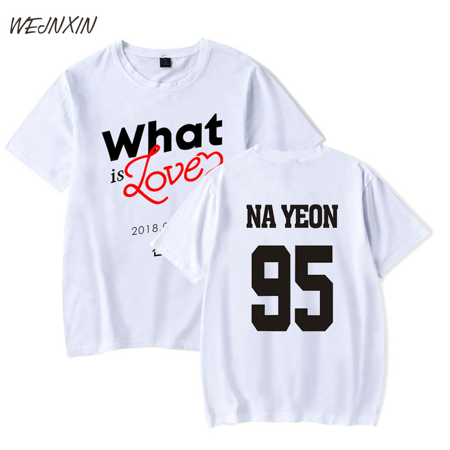 4553fc53e VAGROVSY Kpop Twice Club Wear What Is Love T-shirt For Men Women Unisex  Short Sleeve T Shirt 95 Nayeon Clothing Summer XL Tshirt