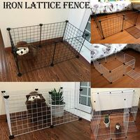 Portable DIY Pet Playpen Animal Crate DIY Metal Wire Kennel Extendable Pet Fence Bunny Cage For Puppy Rubbit Small Animal Pen