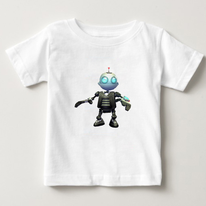 Ratchet And Clank Game Play kids Movie T Shirts boy/girl O Neck t shirt summer top Short sleeve t-shirt Cotton children clothes image