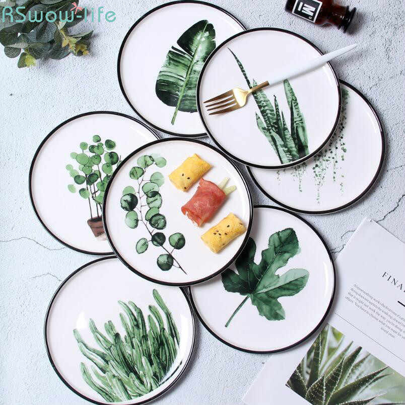 Creative Tableware Ceramic Plate Restaurant Supplies Serving Dishes Dinner Plates For Kitchen Supplies
