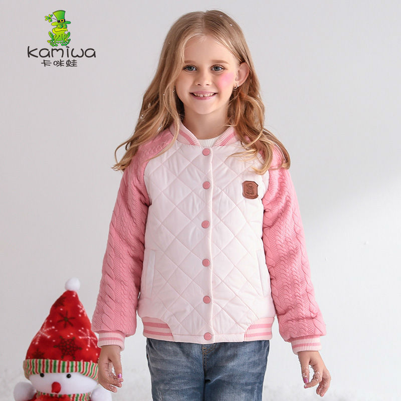 jacket for girls Plaid Quilted Girls Winter Coats Cotton Teenage Clothing Thicken Parkas Cotton-padded Jackets Kids Clothes коврики вкладыши в салонные ниши для kia sportage iv 2016