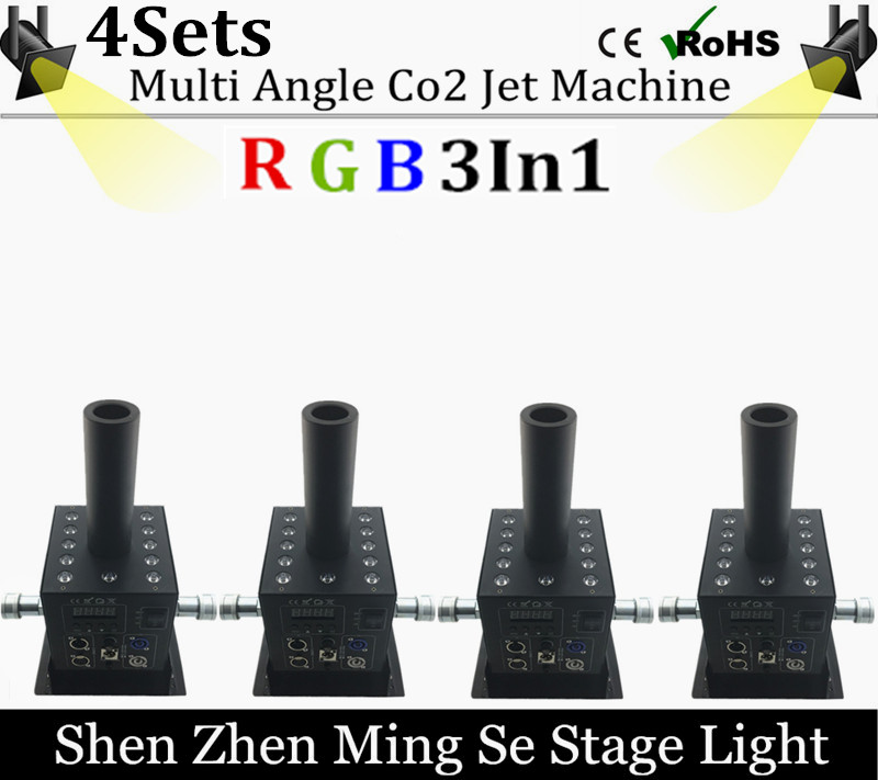 4pcs/lots 12x3w Led Multi Angle CO2 Jet DMX Adjustable Powercon Stage CO2 Device High Pressure Hose Multi Angle DJ CO2 Cannon grad co asst 3 3 4 multi