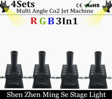 4pcs/lots 12x3w Led Multi Angle CO2 Jet DMX Adjustable Powercon Stage CO2 Device High Pressure Hose Multi Angle DJ CO2 Cannon