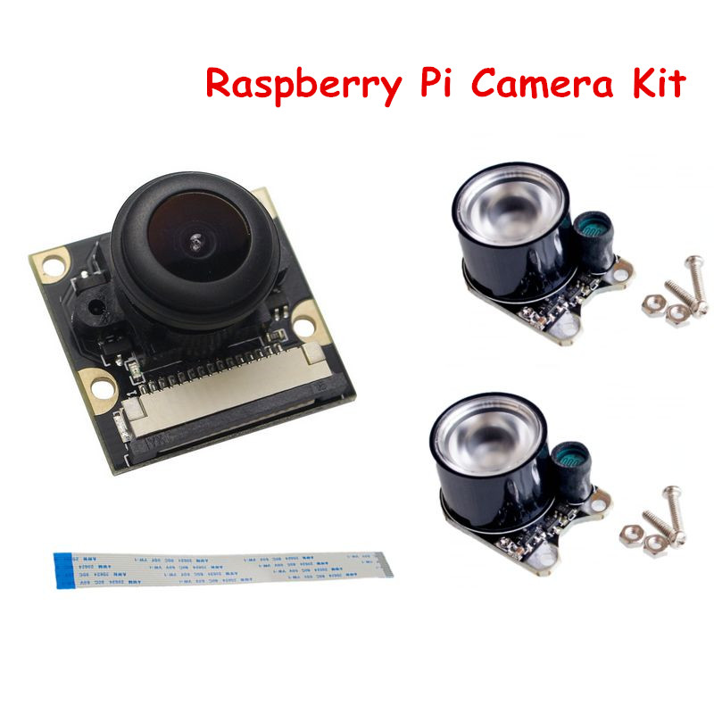 Raspberry Pi Camera Kit IR Sensor LED Light + 500W Night Vision Camera Module + 15cm FFC for Raspberry Pi 2/3 Model B