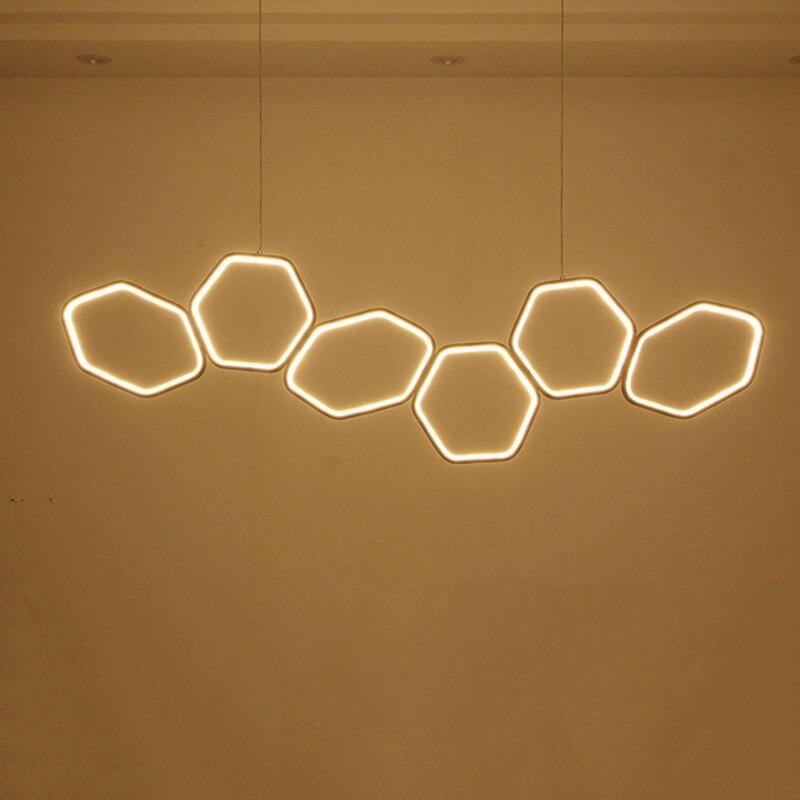 NEO Gleam Minimalismus Moderne LED Kronleuchter für Esszimmer Küche Zimmer Wohnzimmer Weiß oder Kaffee Farbe Hängen Kronleuchter Leuchten