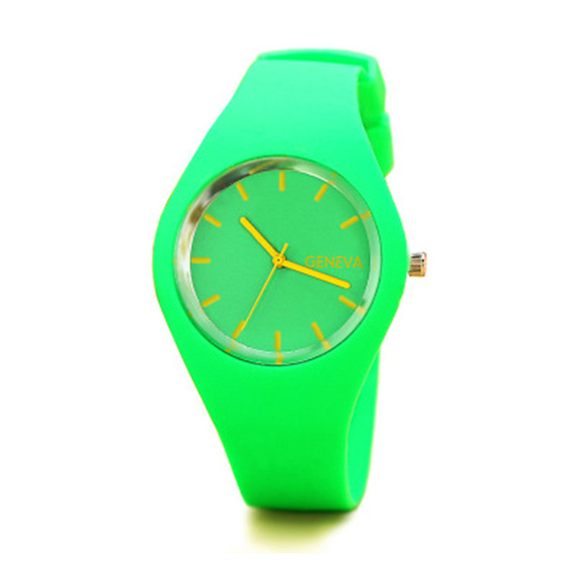 New Fashion Classic Silicone Women Watch simple style wrist watch Silicone Rubbe