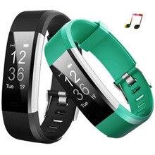 Новый Smart Band ID115 плюс Смарт Браслет Mp3 Bluetooth Smart Браслет Фитнес трекер пульсометр PK Xiaomi Mi band 2