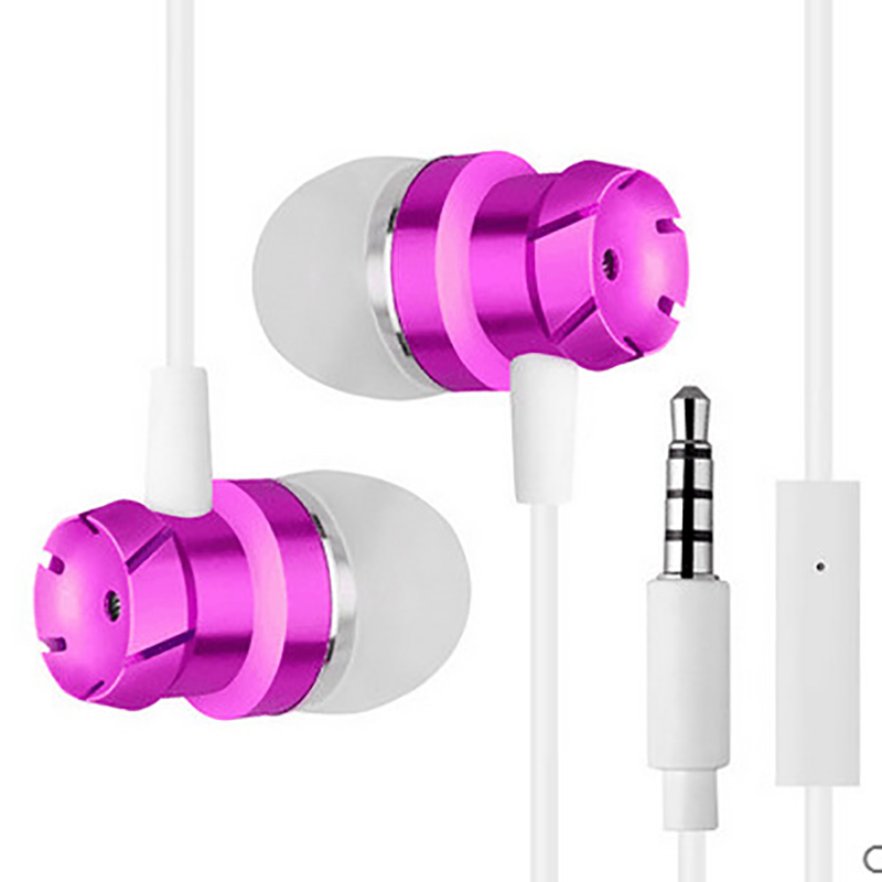 Kapcice Earphones <font><b>EHS64</b></font> Headsets With Built-in Microphone 3.5mm In-Ear Wired Earphone For Smartphones with free gift image