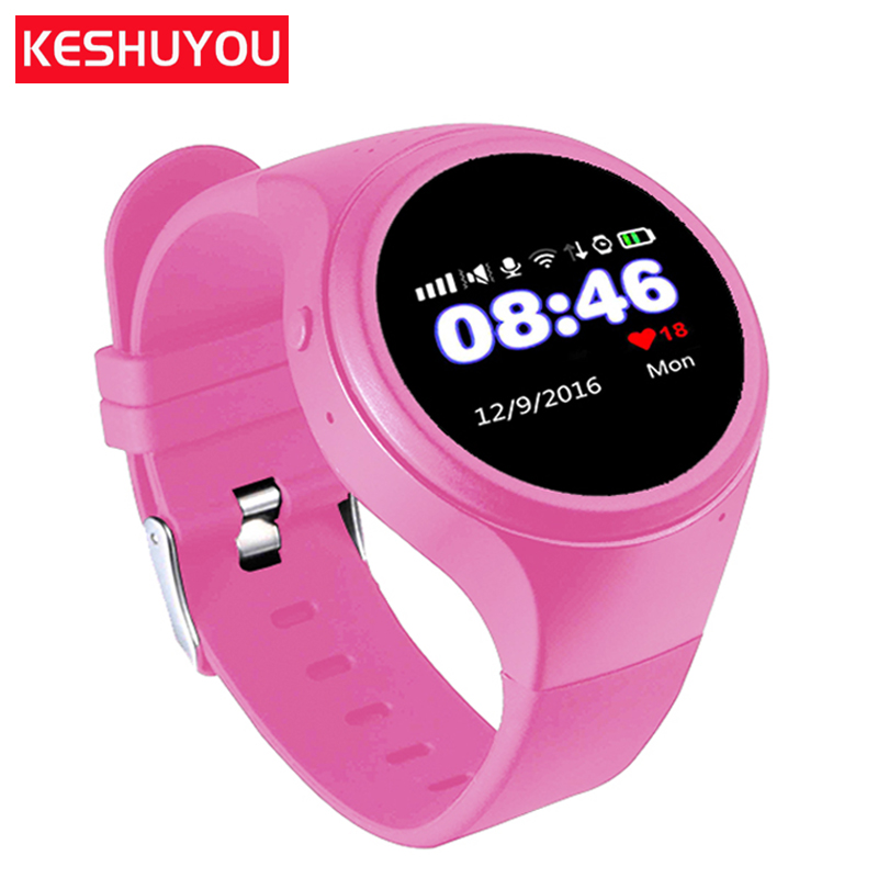 KESHUYOU T88 New Baby smartwatch Children watches GPS  tracker smart watch Pedometer SOS  call Round  phone with a sim card 2016 new g2 gps tracker watch for kids children smart watch with pedometer sos google map button gsm phone wristwatch