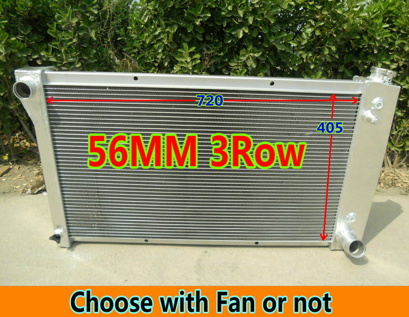 3 Row Aluminum Radiator for 1955-1960 1956 Chevy Chevrolet Corvette 350 V8 AT//MT