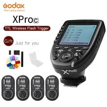 Беспроводная Высокоскоростная синхронизация GODOX XPro C, 2,4 ГГц, высокоскоростная система 1/8000s X, скоростной триггер Flash + 4 кратный E TTL для камер Canon EOS
