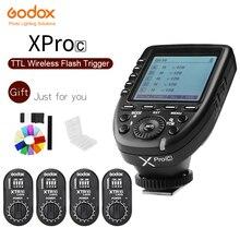 GODOX XPro C E TTL 2.4กรัมไร้สายซิงค์ความเร็วสูง1/8000วินาทีXระบบความเร็วสูงแฟลชทริกเกอร์+ 4x XTR 16สำหรับCanon EOSกล้อง
