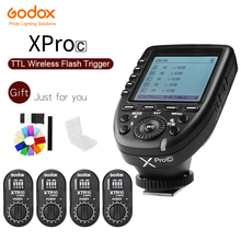 Godox xpro c e ttl 2.4グラムワイヤレス高速同期1/8000 s ×システム高速フラッシュトリガー+ 4x XTR 16用キヤノンeosカメラ