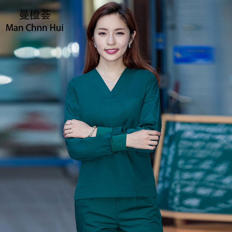 Surgical Gowns Nursing Uniform Scrubs Medical Uniforms Women   Split Suit Hospital Doctor's Overalls