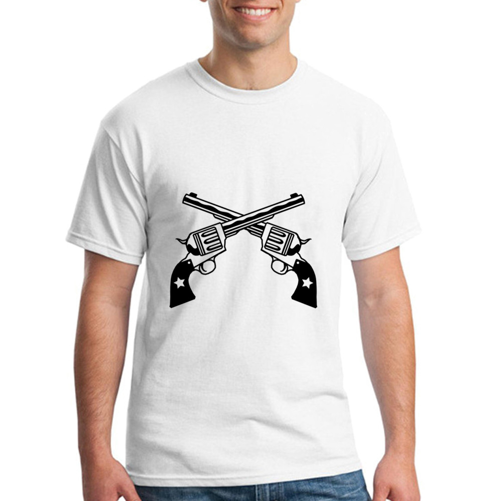 Design your own t-shirt for cheap price - Short Sleeve Clothing O Neck Teenage Six Shooters T Shirts Free Shipping Cheap Wholesale For Men Tee Shirt Design