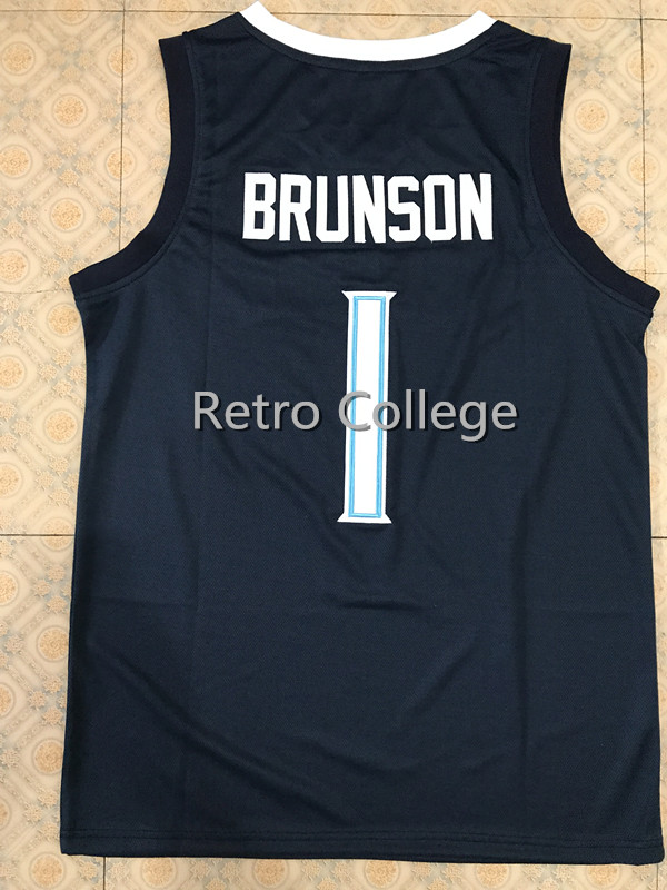 8eee2e16b742 Villanova Wildcats 1 Jalen Brunson 2018 Final Four Champions Blue white  College Basketball Jersey Customize any number and -in Basketball Jerseys  from ...