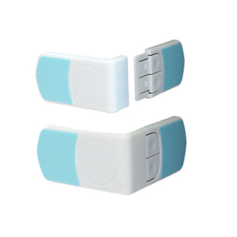 2016 Baby Kid Fridge Cupboard Cabinet Door Right Angle Safety Drawer Lock Latches New Arrival High Quality Free Shipping push to open beetles drawer cabinet latch catch touch release kitchen cupboard new arrival high quality