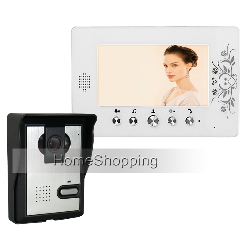 1fe20dd1010 FREE SHIPPING New Wired 7 TFT LCD White Screen Video Door Phone Intercom  System With Night Vision Door bell Camera In Stock