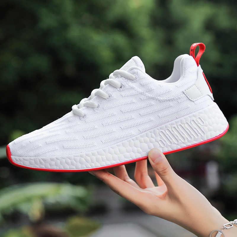 Весенние женские кроссовки; дышащая Спортивная обувь из сетчатого материала; коллекция 2019 года; модные кроссовки на плоской подошве с перекрестными ремешками; кроссовки для бега; женская повседневная обувь