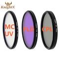KnightX 52 55 58 67 77 mm FLD UV CPL MC MCUV Filter For Sony Pentax Nikon Canon D5200 D5300 D3300 D5500 100D EOS 400D 550D 500D