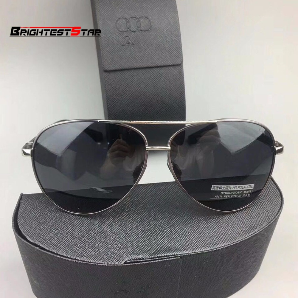 Sun Glasses Audi Case 2019 Polarized Sunglasses For Men Driving Sun Glasses Women Eyewear with Original Box For Audi A3 A5 A4 A6
