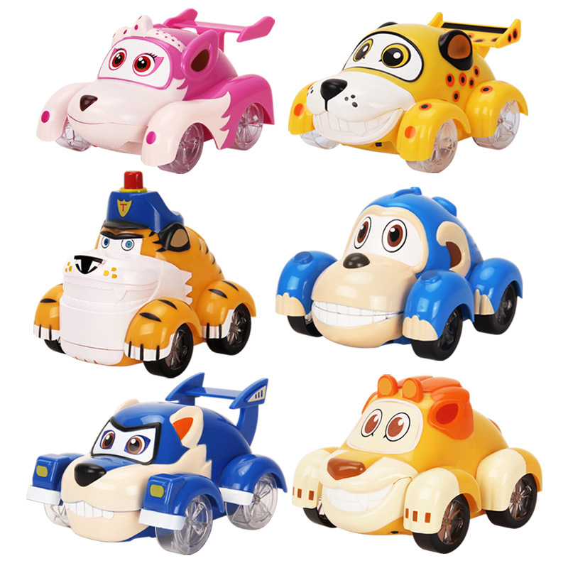 Big!!! Anime Vroomiz Classic Kawaii South Korea Friction Pull Back Cars Cartoon Toys For Children Gift Baby Wind Up Toys