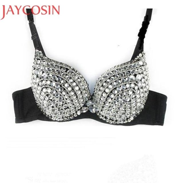 b765ed480313f Sexy Lingerle Women Ladies Fashion New Punk Diamond Bralette Lady Goth  Silver Studded Bra Underwear Underclothes Constum Jan13