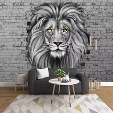 Custom Photo Wallpaper Modern Black And White Lion Mural Living Room Kids Bedroom Background Wall Painting Creative Art Frescoes free shipping acropolis retro black and white photo mural wallpaper study room bedroom living room wallpaper