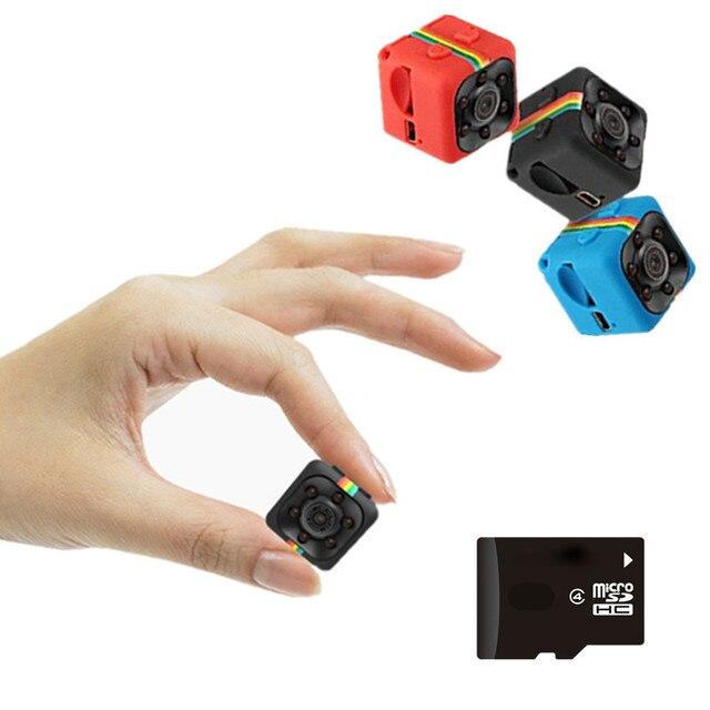SQ11 HD קטן מיני מצלמה מצלמת 1080P וידאו חיישן ראיית לילה למצלמות מיקרו מצלמות DVR DV Motion מקליט למצלמות SQ 11 dvr