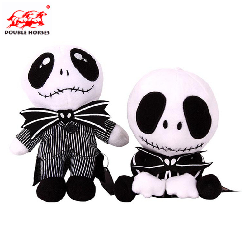 25cm Mini Christmas Eve scare Jack Plush Doll Cute Devil skull toy dolls Halloween dolls boy Doll Girl Toy For Childrens gift